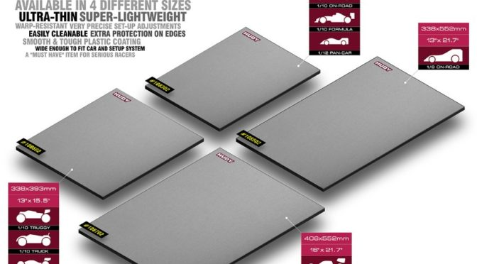 HUDY Flat Set-Up Board – Lightweight – Silver Grey