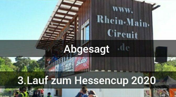 Abgesagt – Der 3.Lauf zum Hessencup beim ESV