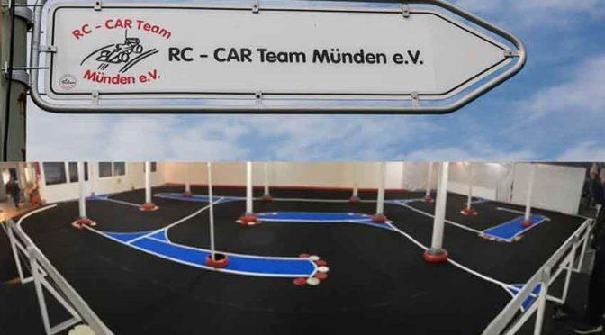 Indoorstrecke des RC-Car Team Münden e.V.