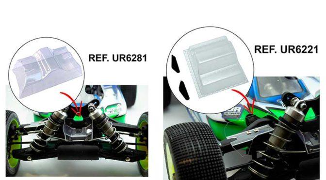 Neue Lexanspoiler für den MBX8 von Ultimate Racing