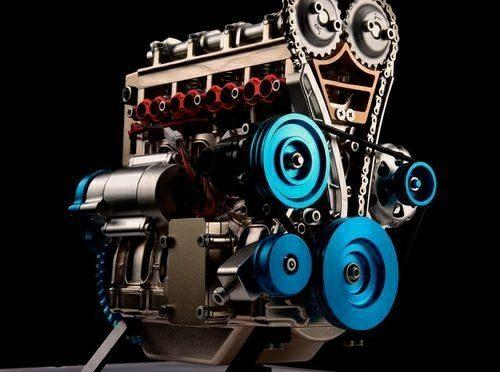 4-Zylinder Motor als Metallbausatz bei thicon-models