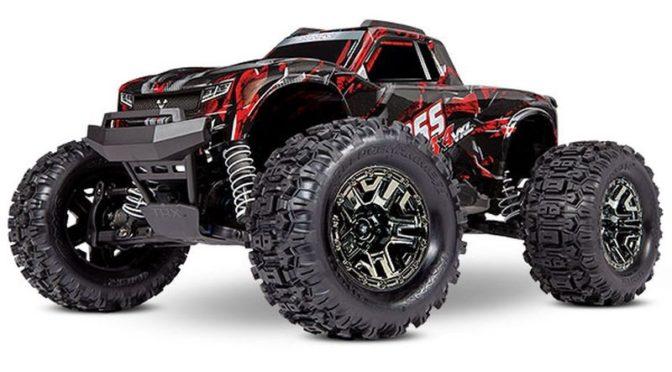 TRAXXAS HOSS 1:10 RTR TSM SR VXL-3S Monster-Truck in Shadow-Red
