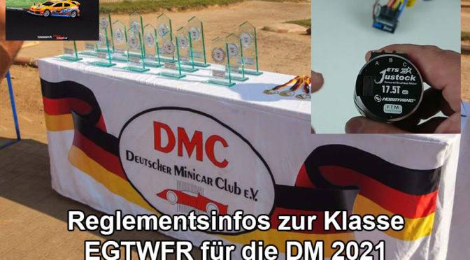 EGTWFR – Wichtige Änderung für die Deutsche Meisterschaft 2021
