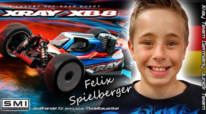 Felix Spielberger im Junior Team von Xray Team Germany