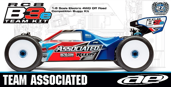 Team Associated RC8B3e Team Kit – 1:8 Buggy Elektro 4WD