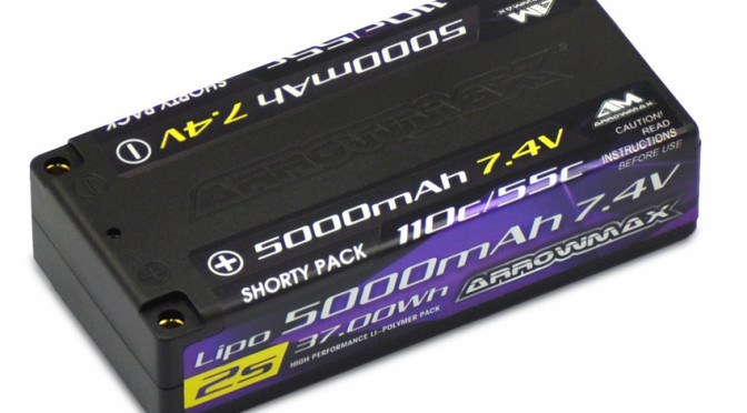 Arrowmax Lipo 5000mAh 2S Shorty– 7.4V….Produktneuheit bald bei 2-speed erhältlich!!!!