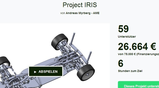 Project IRIS beendet heute seine Aktion bei Kickstarter.com