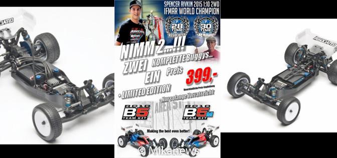 Zwei Weltmeister (Asso B5+B5M) zu einem Preis – Angebot zum 12.Weltmeistertitel ORE2WD