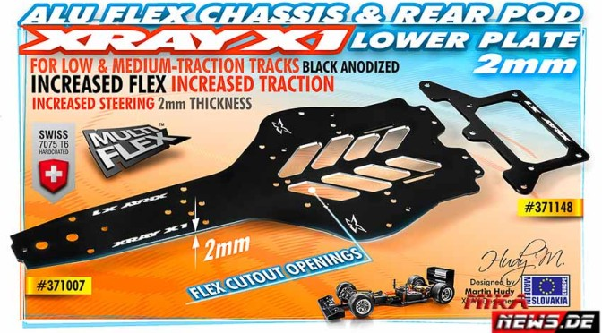 X1 Alu Flex Chassis 2.0mm – 7075 T6