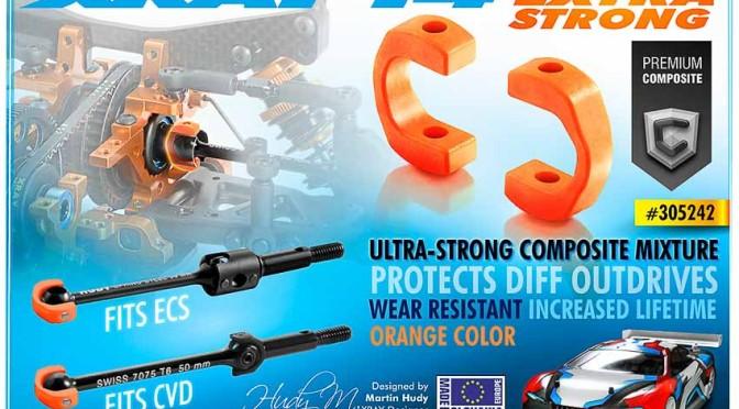 Neuer, stärker und weniger Verschleiß – die neuen orangefarbenen Kunststoffblades für die XRAY T4-Antriebswellen