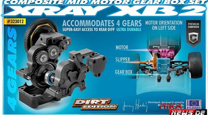 Xray XB2 – Mittelmotor-Getriebeset (4-Gear)