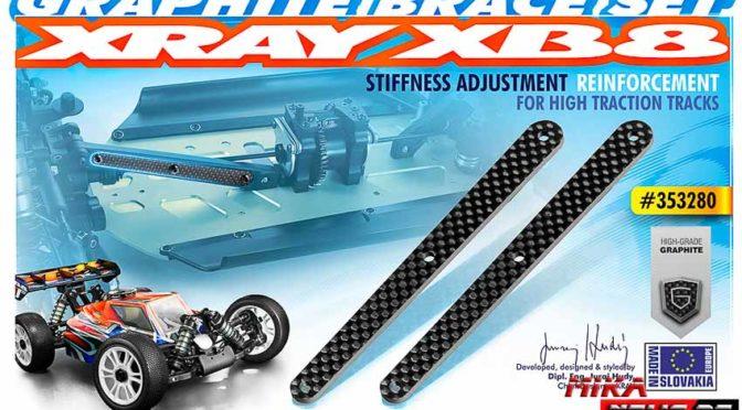 Kohlefaser-Chassisversteifung für den Xray XB8