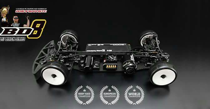 Yokomo BD8 wahlweise mit Aluminium-Chassis