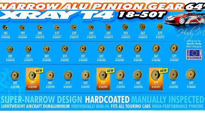 Xray Motorritzel 64 dP aus Aluminium