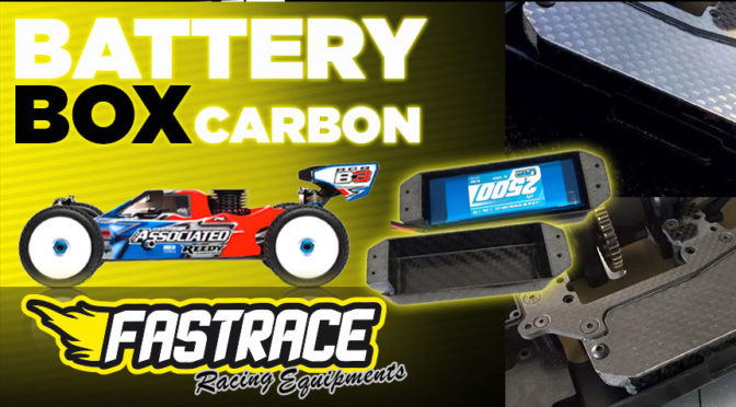 New Fastrace Carbon Battery Box für Associated RC8B3