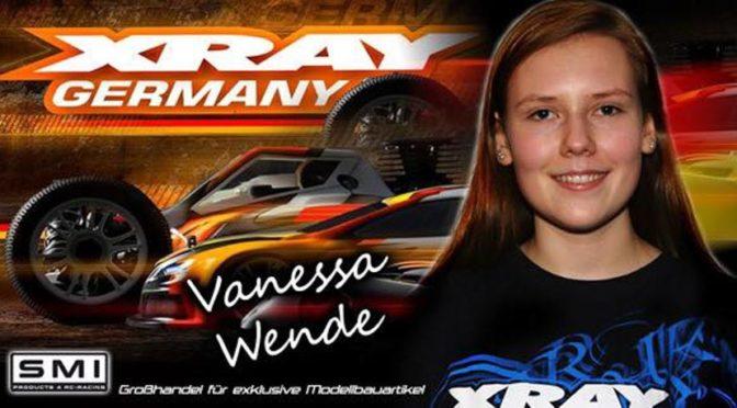 Vanessa Wende weiter mit Xray Deutschland, Orcan, MH Motor Tuning und SMI