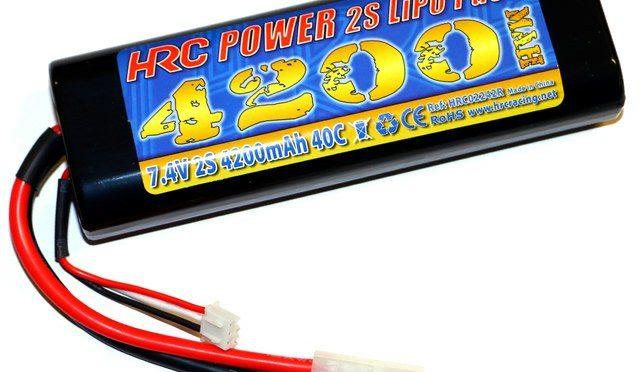 HRC Racing 2S 4200mAh Round Case LiPo