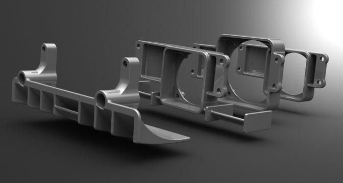 3DRC – Serpent SF3 / Yokomo YR-10 Fan Booster und Diffusor