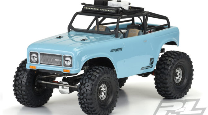 Ambush Clear Body mit Ridge-Line Trail Cage für Scale Crawler