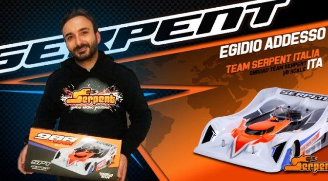 Egidio Addesso wechselt zum Team Serpent 1/8 GP Onroad