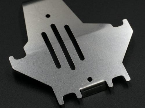 Edelstahl-Skip-Platte für Traxxas TRX-4 Silber
