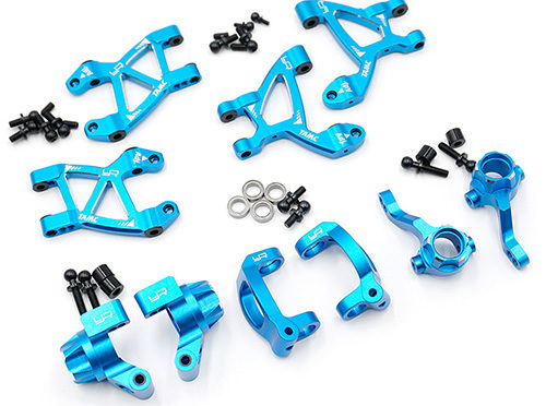"Aluminium ""Essential Conversion"" Kit für Tamiya M07 Blau"
