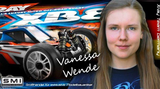 Vanessa Wende weiter bei Xray Deutschland / SMI
