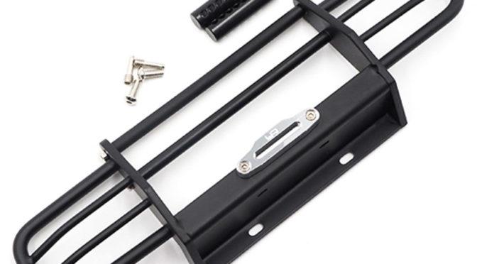 Metall Front Bumper For HPI Venture TRX-4 SCX10 II Black