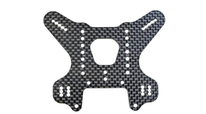 Mugen Seiki Racing – hintere Dämpferbrücke für den MBX8 /Eco