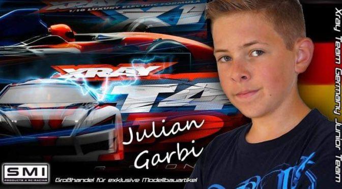 Julian Garbi im Xray Team Germany Junior Team