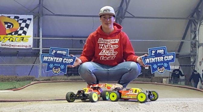 Max Hesse auf dem Podium beim Winter Cup IBR Padova (Italy)