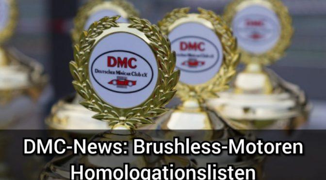 DMC-News: Brushless-Motoren Homologationslisten