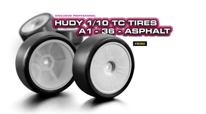 HUDY 1/10 TC Reifen A1-36 – Asphalt