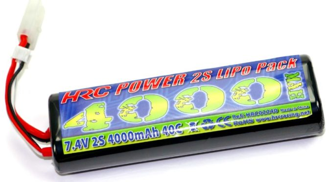 HRC Racing 4000mAh Rounded Hard Case LiPo Hobby Packs