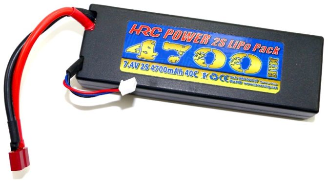 HRC-Racing 4700 Hard Case LiPo Akkupack
