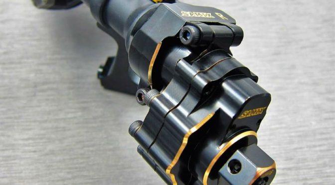 SamixRC – TRX-4 Radträger hinten aus Messing