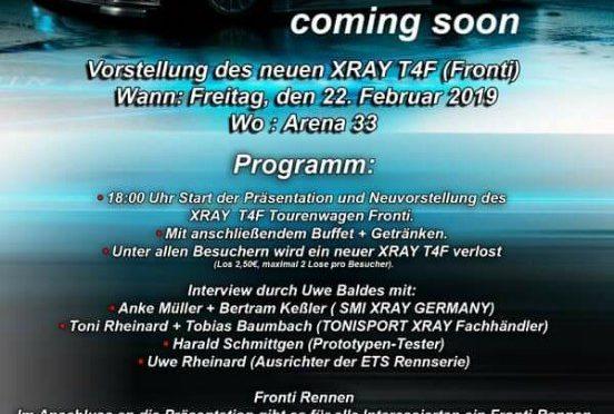 Präsentation des Xray T4F in der Arena33