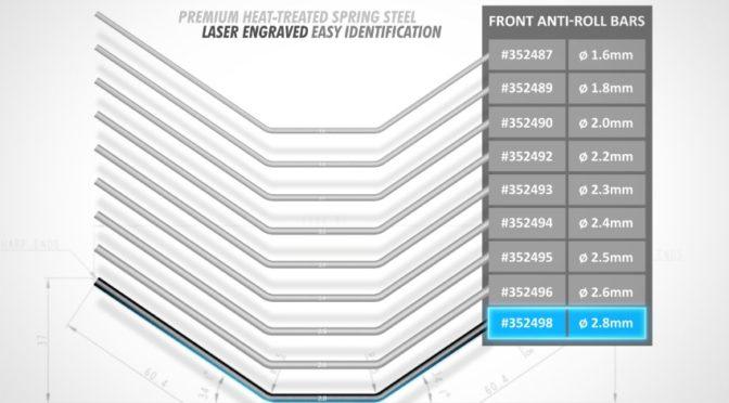 Xray Frontstabi 2.8mm für XB8 & GTX