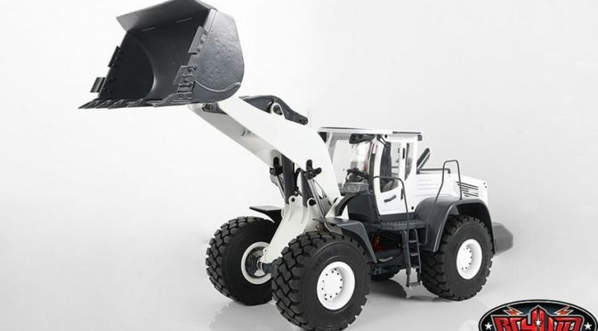 1/14 SCALE EARTH MOVER 870K HYDRAULIC WHEEL LOADER (WHITE)