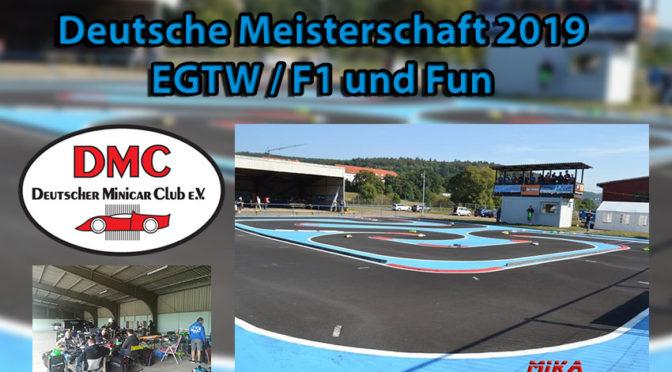 Deutsche Meisterschaft EGTW / F1 mit FUN-Klasse 2019 beim RCCT Münden
