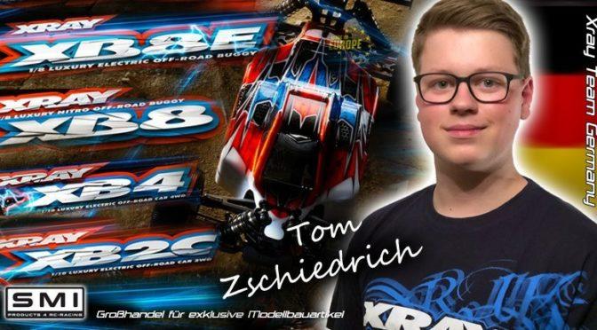 Tom Zschiedrich im Team XRAY Germany
