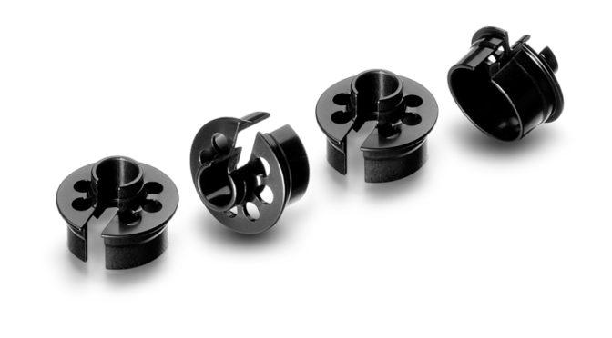 Neue Alu Shock Spring Retaining Collar -2mm (4) für Xray 1/10 Offroad