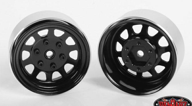 Stamped Steel 1.7″ Beadlock Wagon Felgen (Black)