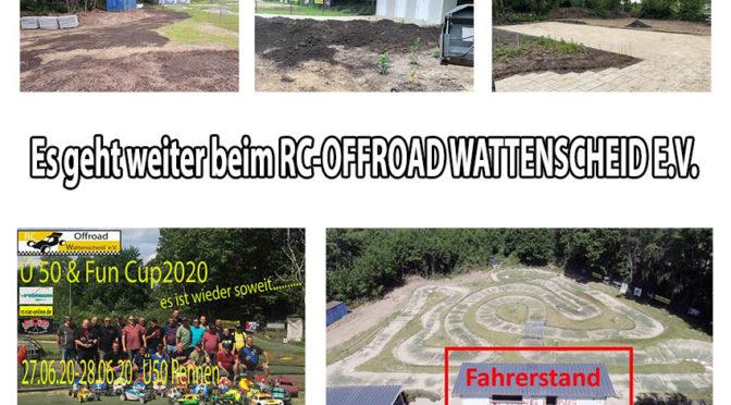 Renovierung beim RC-OFFROAD WATTENSCHEID E.V.