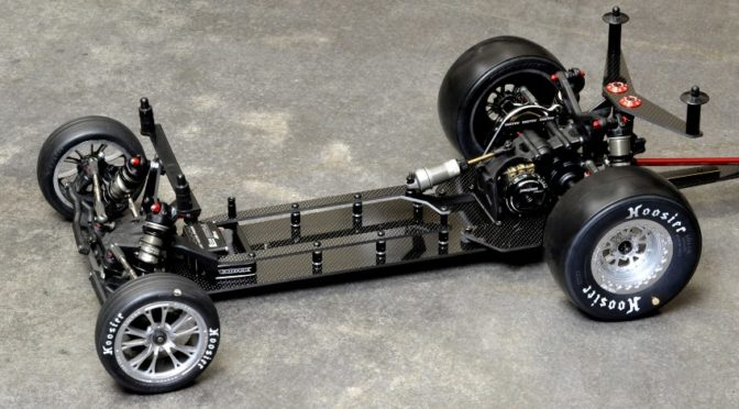 22 VADER Drag Chassis, CF Conversion für TLR 22 Buggies