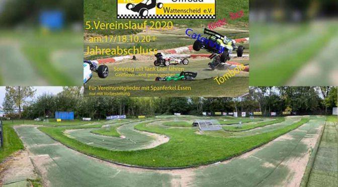 5.Vereinslauf und Jahresabschluss beim RC Offroad Wattenscheid