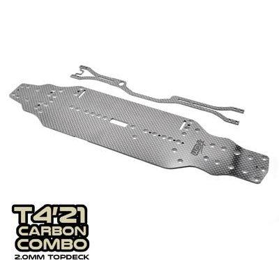 SlimFlex Carbon Chassis und CentraFlex Topdeck für den T4'21 von RC Maker