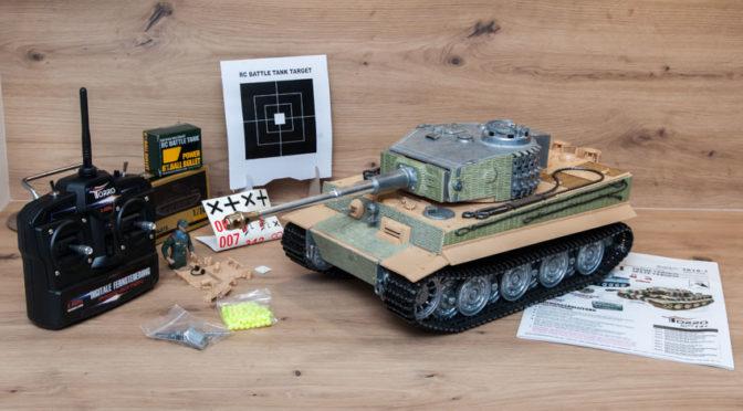 Torro RC Panzer 1:16 Tiger I Späte AUSF. unlackiert BB mit Solution Box
