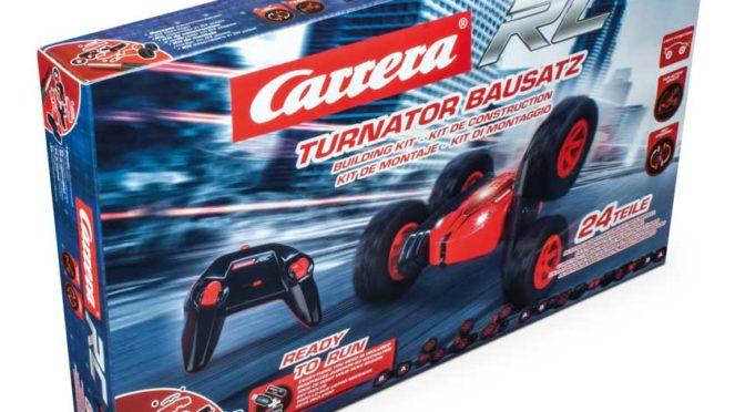 Drinnen bauen – draußen Spaß haben: Mit dem Carrera RC Turnator zum Selberbauen!