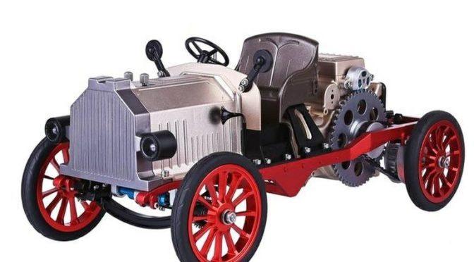 Classic-Car aus Metall mit E-Motor und Bluetooth-Steuerung – thicon-models